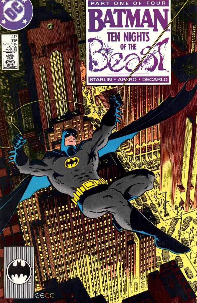 Couverture de Batman Vol.1 (DC Comics - 1940) -417- Ten Nights of the Beast