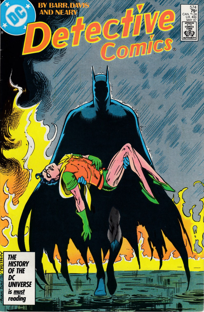 Couverture de Detective Comics (1937) -574- My beginning and my probable end