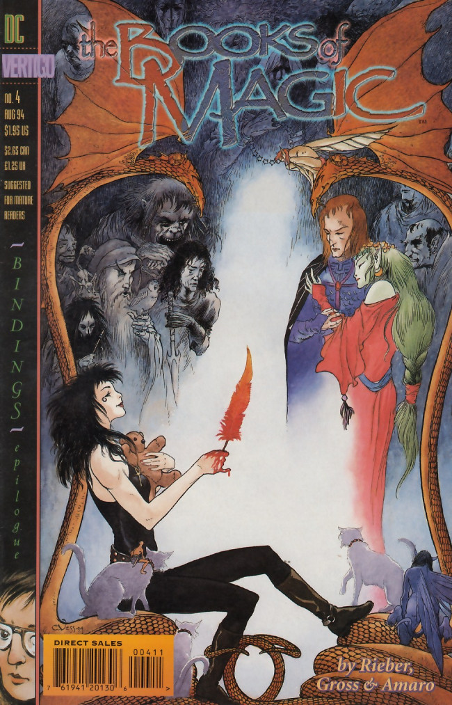 Couverture de Books of Magic (The) (1994) -4- Bindings: Epilogue lost causes