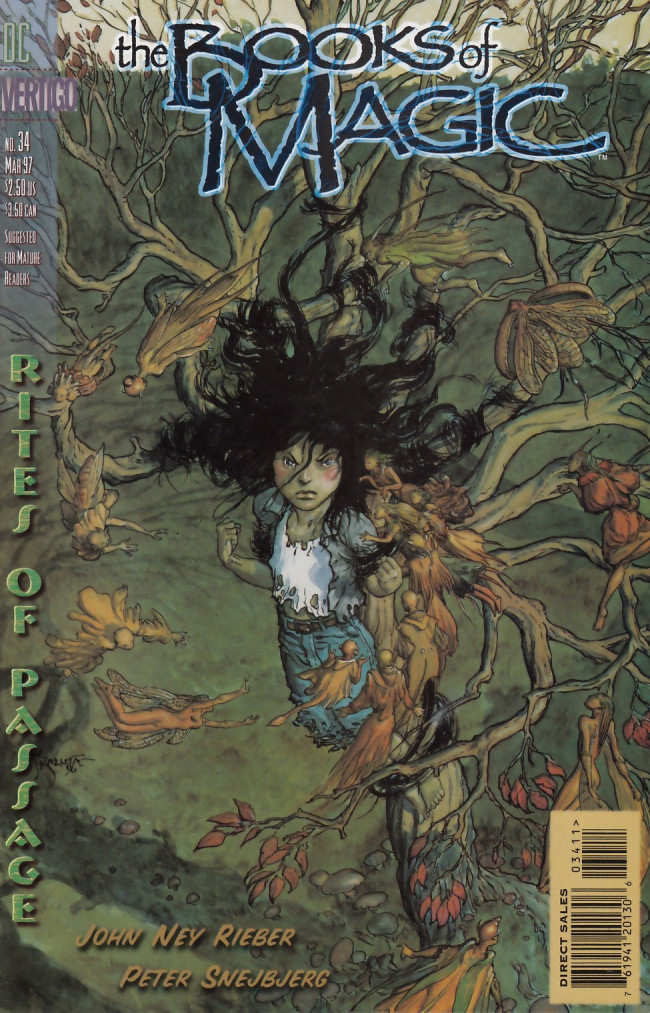 Couverture de Books of Magic (The) (1994) -34- Rites of passage part eight: Fire and sugar and spice