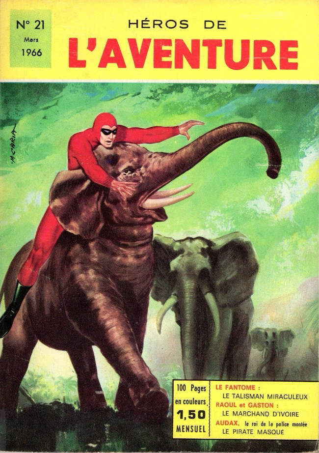 Couverture de Les héros de l'aventure (Classiques de l'aventure, Puis) -21- Le Fantôme : Le talisman miraculeux