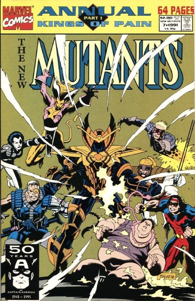 Couverture de New Mutants (The) (1983) -AN07- Pawns of Senescence (Kings of Pain, Pt. 1)