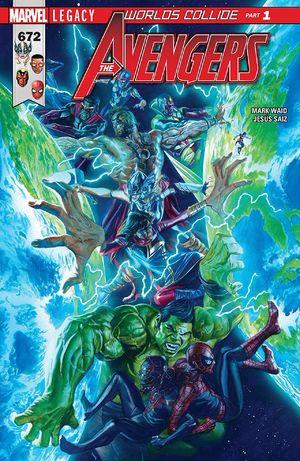 Couverture de Avengers Vol.7 (Marvel comics - 2017) -672- Worlds Collide: Part One