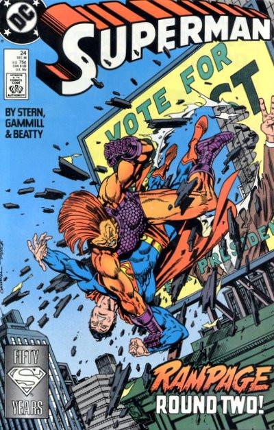 Couverture de Superman Vol.2 (DC comics - 1987) -24- Power Politics