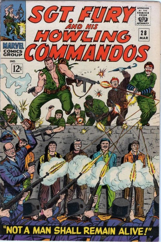 Couverture de Sgt. Fury and his Howling Commandos (Marvel - 1963) -28-