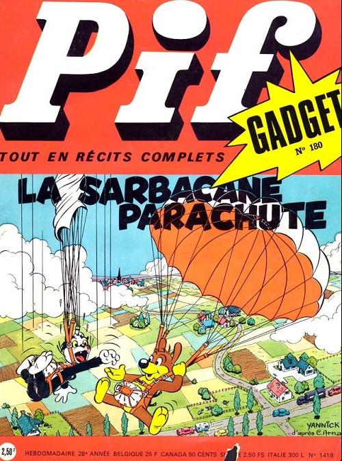 Couverture de Pif (Gadget) -180- La sarbacane parachute
