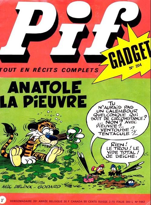 Couverture de Pif (Gadget) -204- Anatole la pieuvre