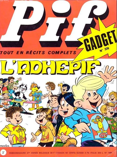 Couverture de Pif (Gadget) -226- L'adhépif