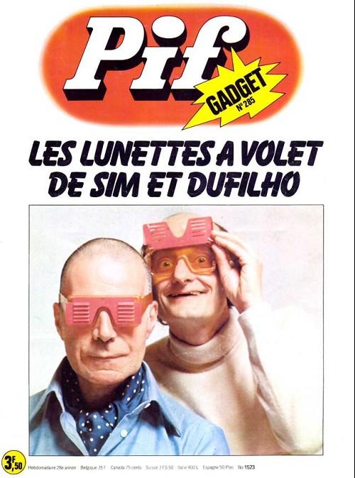 Couverture de Pif (Gadget) -285- Les lunettes à volet de sim et dufilho