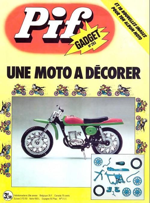Couverture de Pif (Gadget) -293- Une moto à décorer
