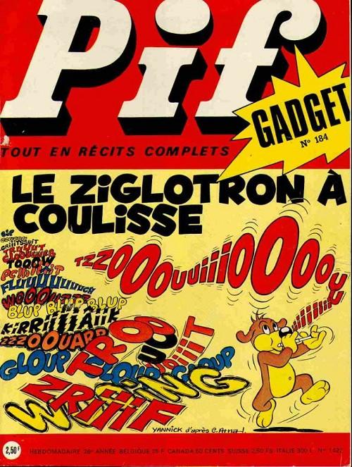 Couverture de Pif (Gadget) -184- Le zyglotron à coulisse