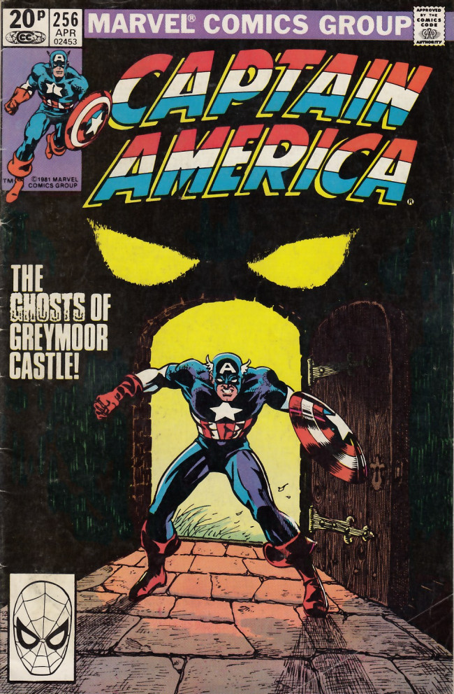 Couverture de Captain America (1968) -256UK- THe ghost of Greymoor castle