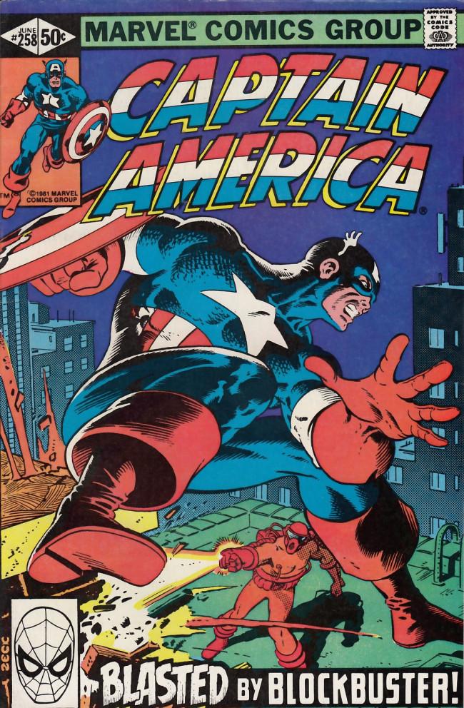 Couverture de Captain America (Marvel comics - 1968) -258- Blockbuster