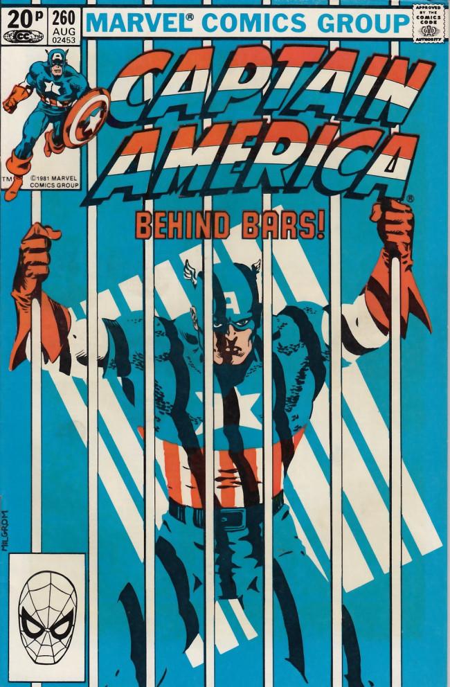 Couverture de Captain America (Marvel comics - 1968) -260UK- Prison reform