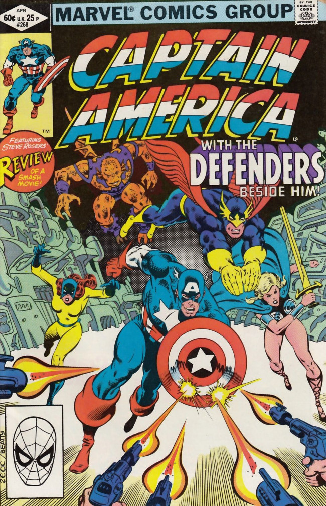 Couverture de Captain America (Marvel comics - 1968) -268- Peace on earth...Good will to man