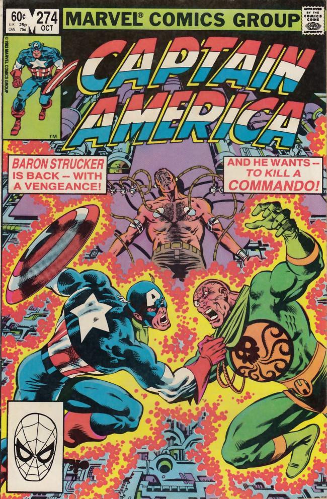 Couverture de Captain America (Marvel comics - 1968) -274- Death of a hero