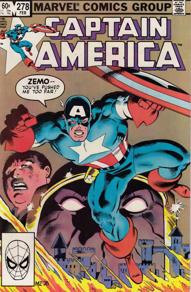 Couverture de Captain America (Marvel comics - 1968) -278- Oh, thus be it ever...