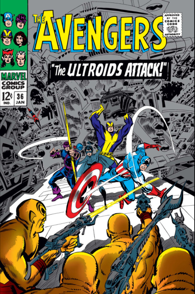Couverture de Avengers Vol. 1 (Marvel Comics - 1963) -36- The Ultroids Attack!