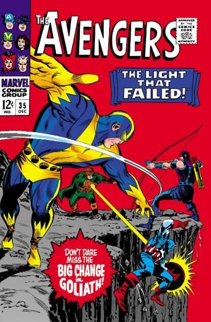 Couverture de Avengers Vol. 1 (Marvel Comics - 1963) -35- The Light That Failed!
