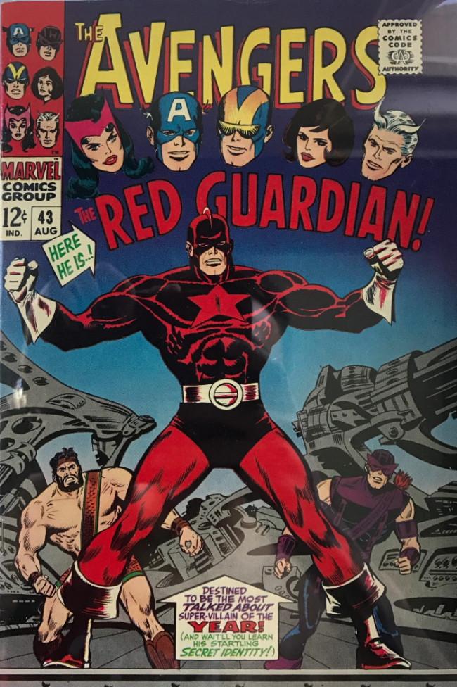Couverture de Avengers (The) (1963) -43- Color Him... the Red Guardian!
