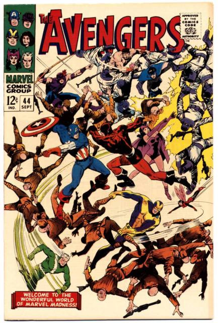 Couverture de Avengers Vol. 1 (Marvel Comics - 1963) -44- The Valiant Also Die!