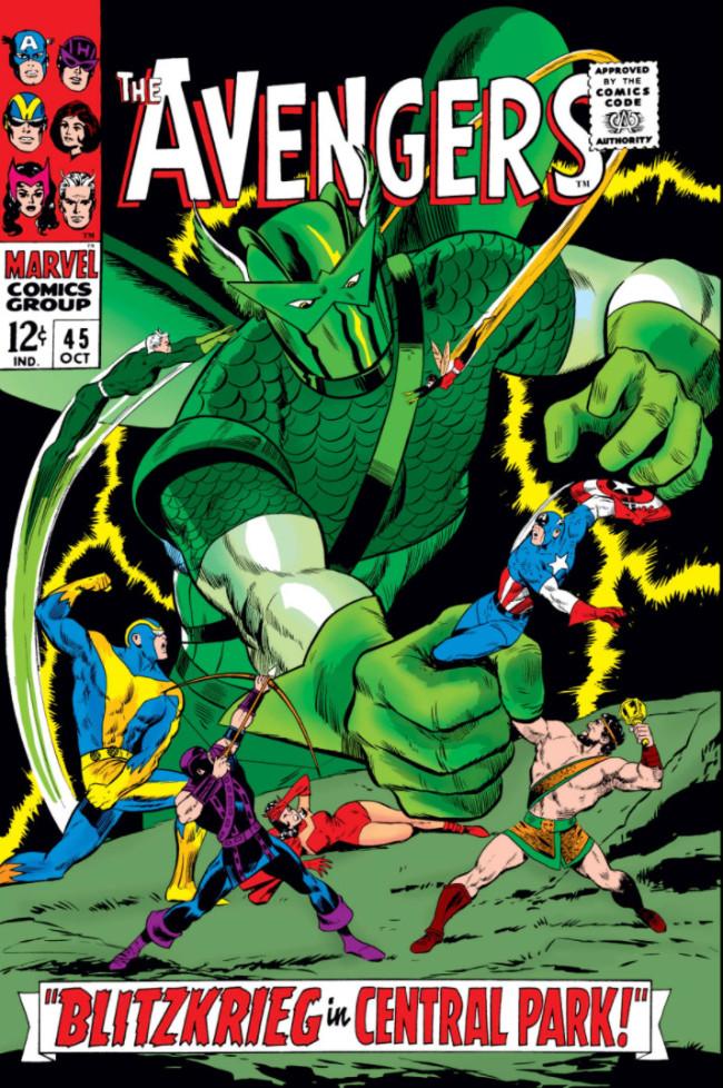 Couverture de Avengers Vol. 1 (Marvel Comics - 1963) -45- Blitzkrieg in Central Park!