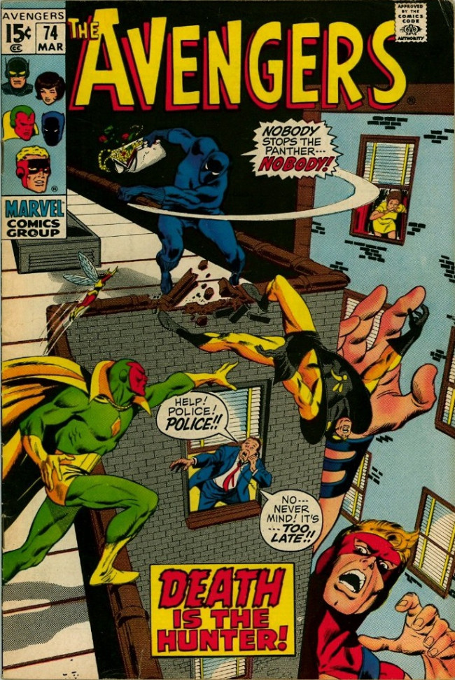 Couverture de Avengers Vol. 1 (Marvel Comics - 1963) -74- Pursue the Panther!