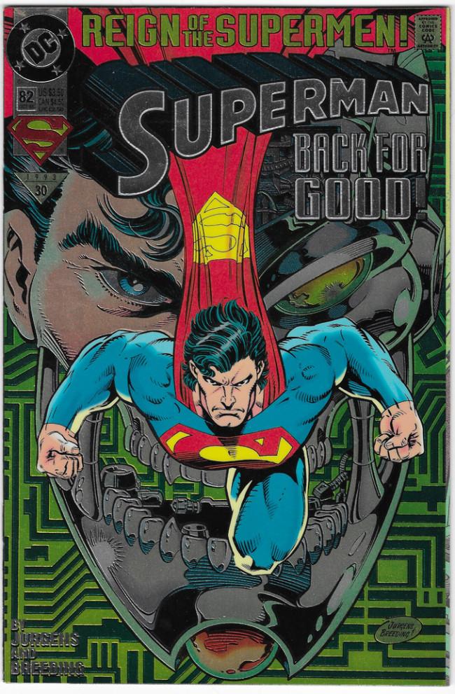 Couverture de Superman (1987) -82- Superman back for good