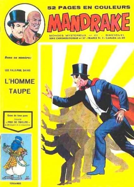 Couverture de Mandrake (1re Série - Remparts) (Mondes Mystérieux - 1) -411- L'homme taupe