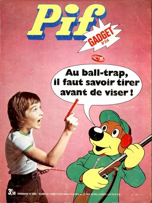 Couverture de Pif (Gadget) -314- Au ball-trap il faut savoir tirer avant de viser !