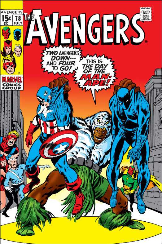 Couverture de Avengers Vol. 1 (Marvel Comics - 1963) -78- The Man-Ape Always Strikes Twice!