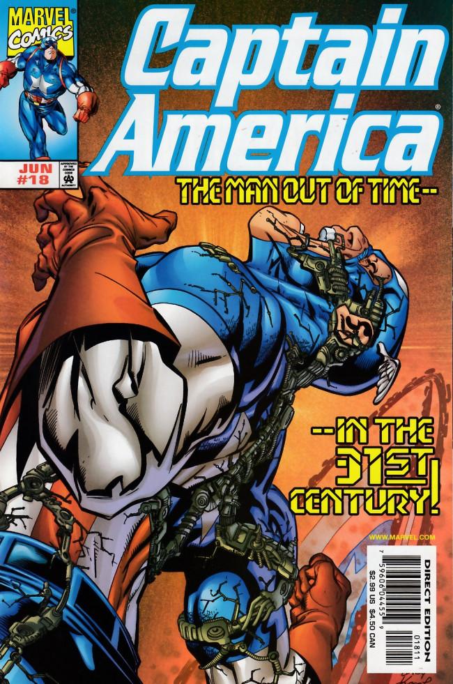 Couverture de Captain America (1998) -18- Man out of time