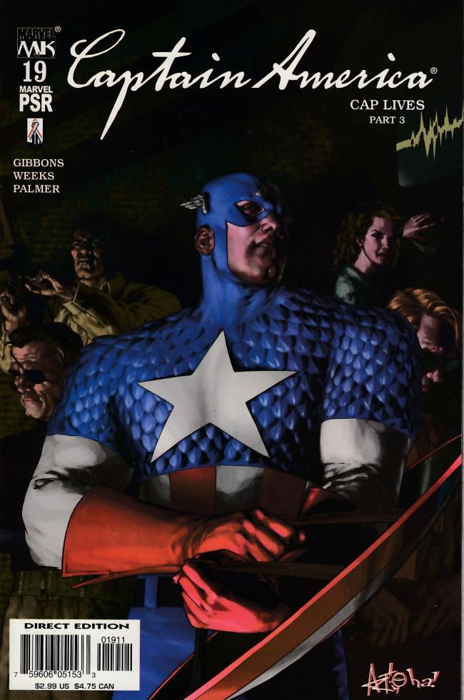 Couverture de Captain America (2002) -19- Captain america lives again chapter 3
