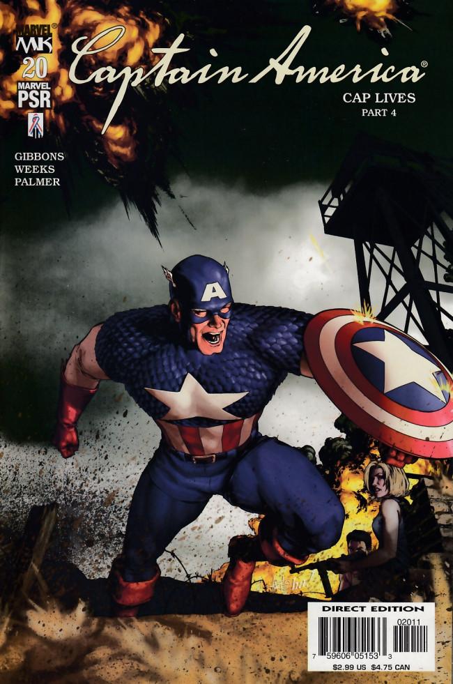 Couverture de Captain America (2002) -20- Captain america lives chapter 4