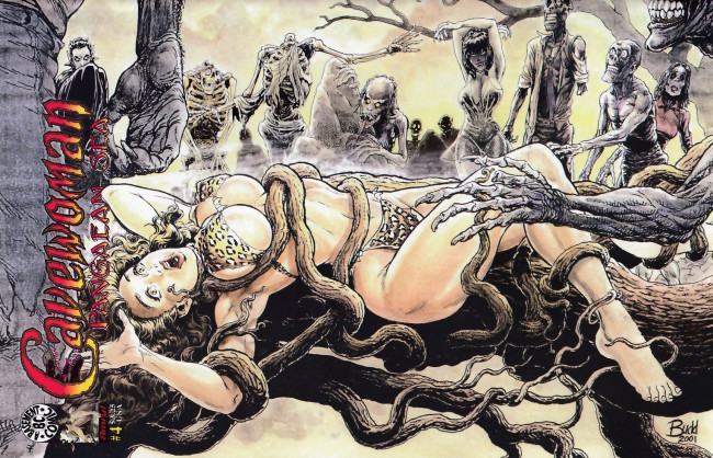 Couverture de Cavewoman: Pangaean sea (1999) -4- Cavewoman: Pangaean sea #4