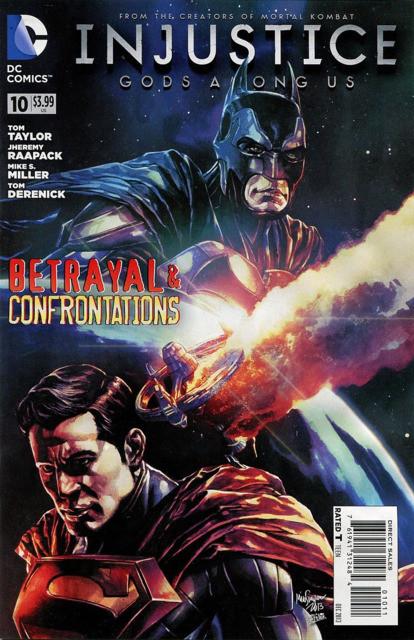 Couverture de Injustice: Gods Among Us (2013) -10- Betrayal & Confrontations