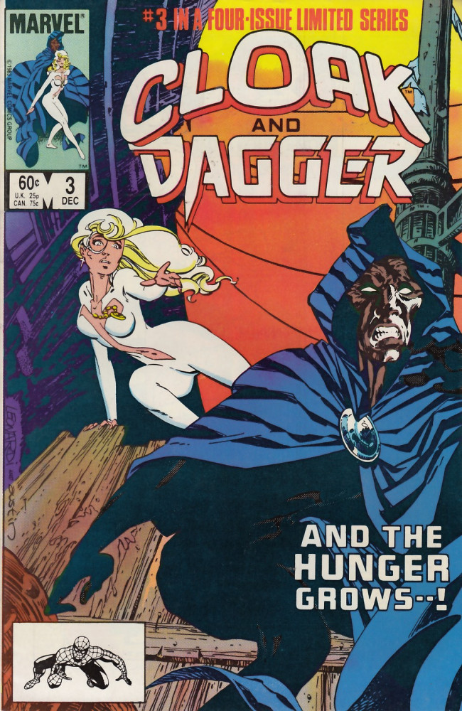 Couverture de Cloak and dagger (1983) -3- Dark is my love and deadly