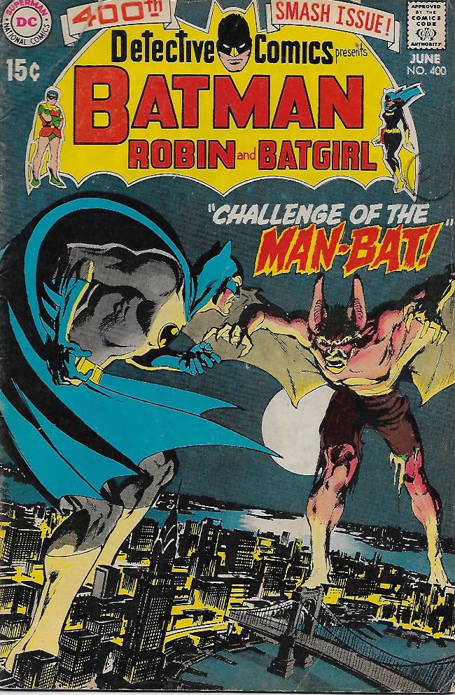 Couverture de Detective Comics (1937) -400- Challenge of the Man-Bat!