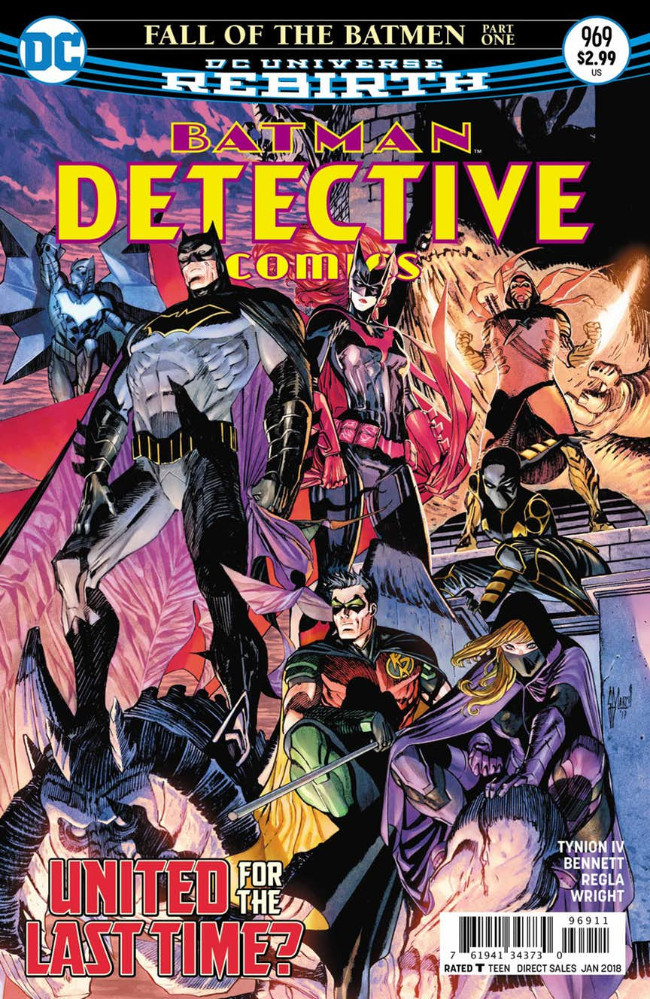 Couverture de Detective Comics (1937) -969- Fall of the Batman - Part 1
