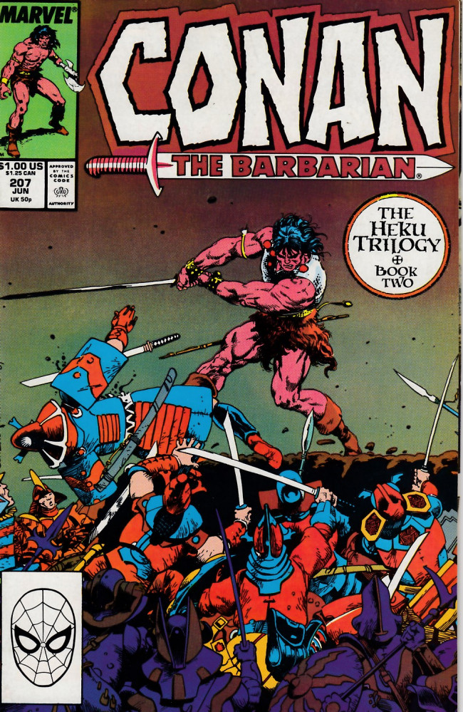 Couverture de Conan the Barbarian Vol 1 (Marvel - 1970) -207- The Heku Trilogy Book 2: Community