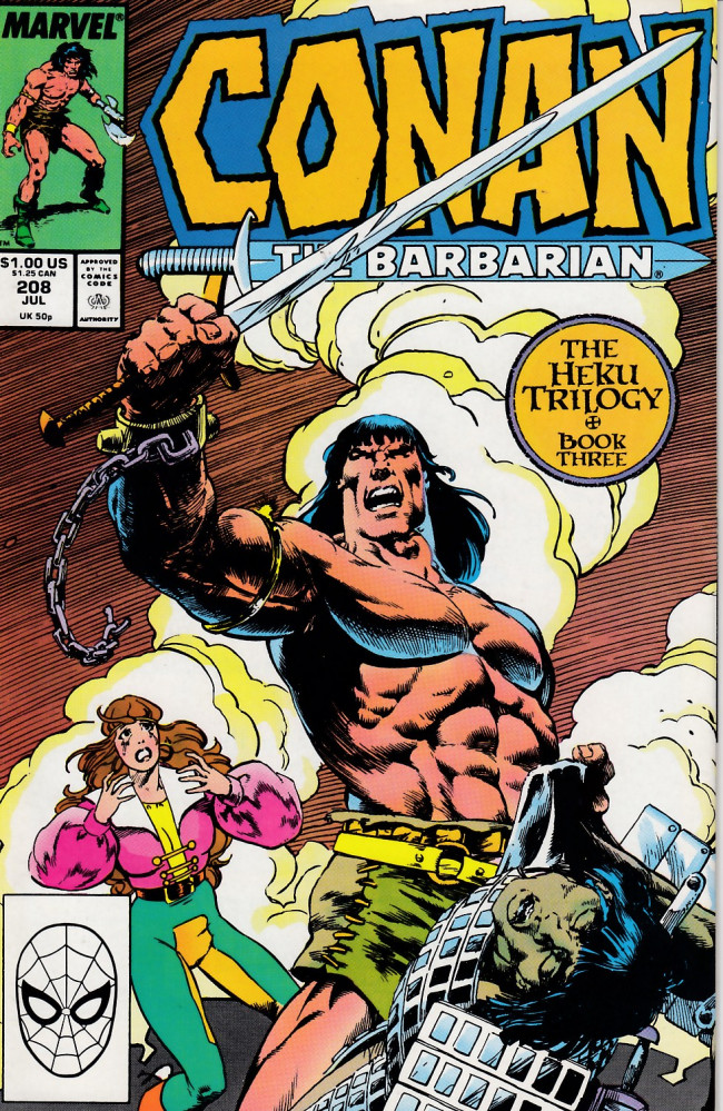Couverture de Conan the Barbarian Vol 1 (Marvel - 1970) -208- The Heku Trilogy Book 3: Triad