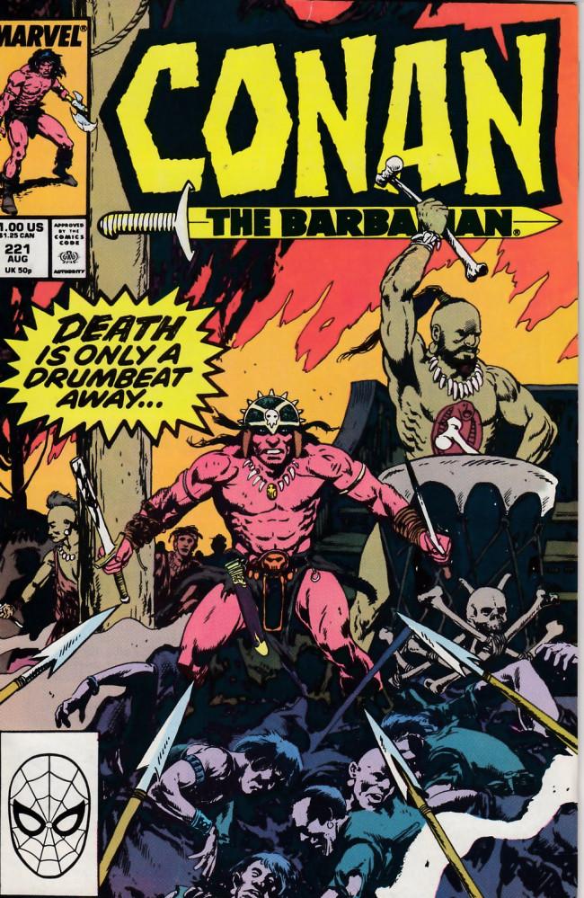 Couverture de Conan the Barbarian Vol 1 (Marvel - 1970) -221- Drum Song