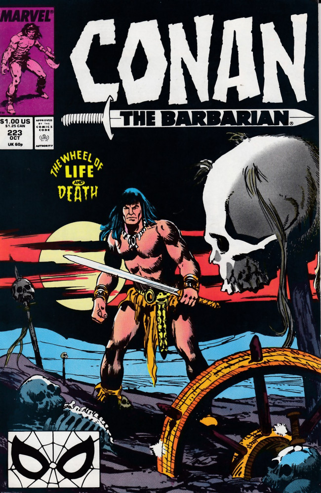Couverture de Conan the Barbarian Vol 1 (Marvel - 1970) -223- The Wheel of Life and Death