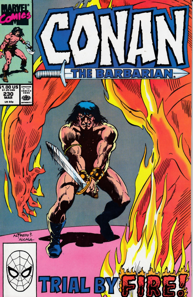 Couverture de Conan the Barbarian Vol 1 (Marvel - 1970) -230- In the Land of the Lotus