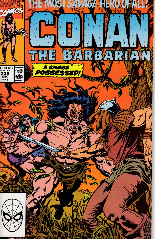 Couverture de Conan the Barbarian Vol 1 (Marvel - 1970) -239- Dancing With The Devil