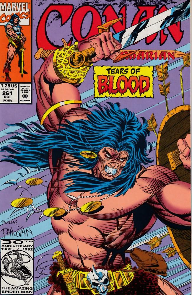 Couverture de Conan the Barbarian Vol 1 (Marvel - 1970) -261- Scarlet tears