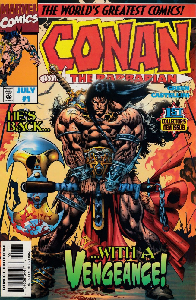 Couverture de Conan the Barbarian Vol 2 (Marvel - 1997) -1- Conan and the Stalker of the Woods, Part I