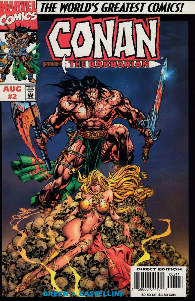 Couverture de Conan the Barbarian Vol 2 (Marvel - 1997) -2- Conan and the Stalker of the Woods, Part II