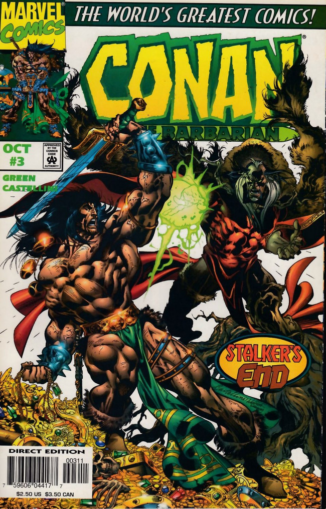Couverture de Conan the Barbarian Vol 2 (Marvel - 1997) -3- Conan and the Stalker of the Woods, Part III