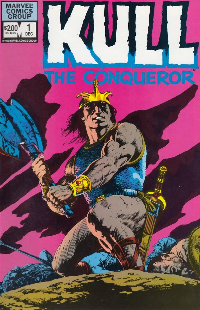 Couverture de Kull the Conqueror Vol.2 (Marvel comics - 1982) -1- The power and the kingdom